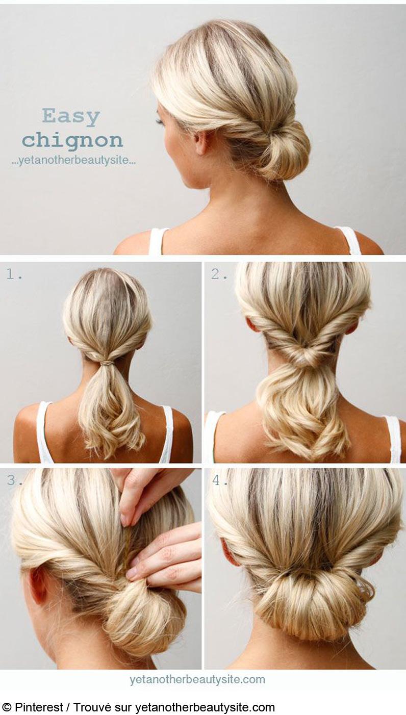 Tuto coiffure cheveux comment r aliser une coupe tendance en moins de cinq minutes - Tuto coiffure cheveux court ...